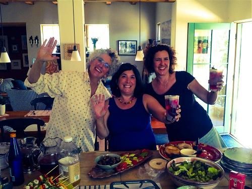 Santa Fe art teachers: Mary Olson, Roni Rohr, Amy Birkan