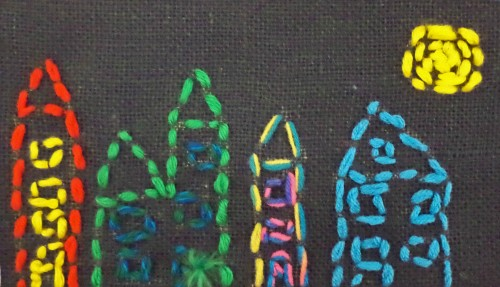 Cityscape by a second grade boy