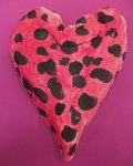 First grader clay watermelon heart