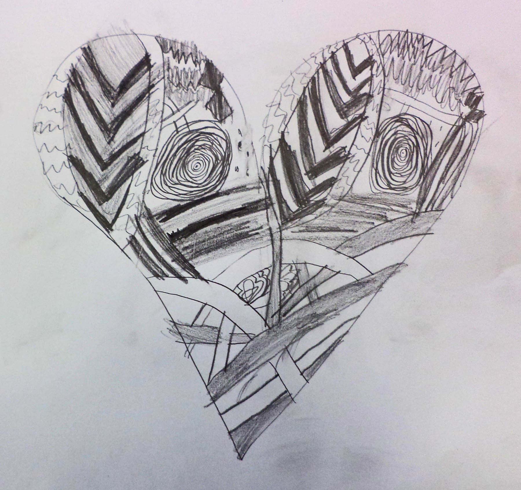 Hearts and Valentines | Self-Directed Art |Zentangle Heart Graphics
