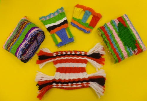 Various weavings from one 3rd grade class