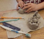 Learning clay basics through trial-and-error.